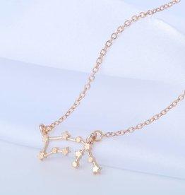 Sternzeichen Halskette Wassermann gold