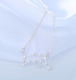 Sternzeichen Halskette Wassermann silber