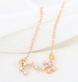 Sternzeichen Halskette Skorpion gold
