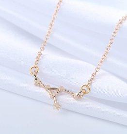 Sternzeichen Halskette Krebs gold