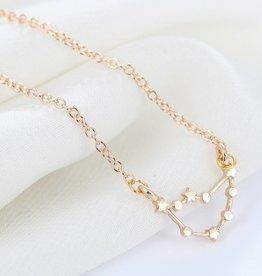 Sternzeichen Halskette Steinbock gold