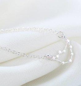 Sternzeichen Halskette Steinbock silver