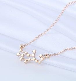 Sternzeichen Halskette Jungfrau gold