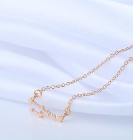Sternzeichen Halskette Stier gold