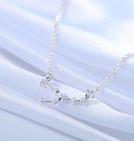 Sternzeichen Halskette Stier silber