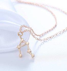 Sternzeichen Halskette Waage gold