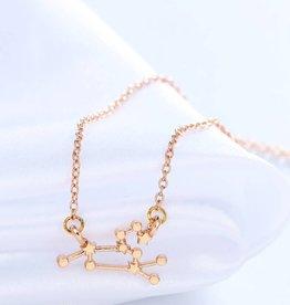 Sternzeichen Halskette Löwe gold