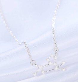 Sternzeichen Halskette Löwe silber