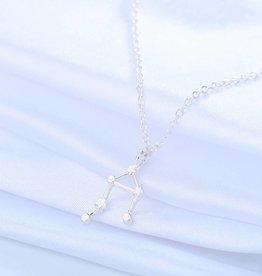 Sternzeichen Halskette Waage silber