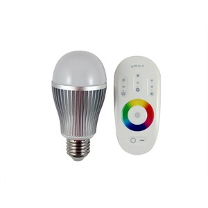 LED E27 RGB Lamp 2.4 Gz Afstandbediening