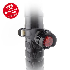 MTB Led Fietslamp Achterlicht USB oplaadbaar zwart