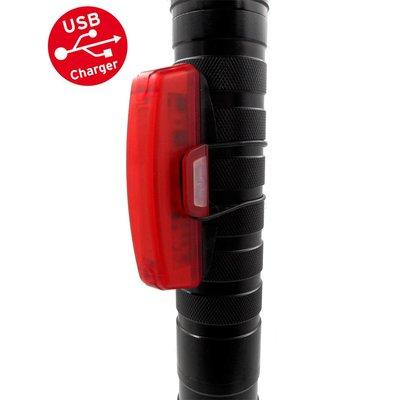 MTB Led Fietslamp Achterlicht USB oplaadbaar 100 lumen