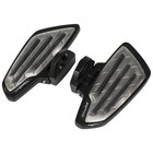 Highway Hawk Floorboard Set New Tech Black Metal Passenger - 732-702M