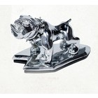 Highway Hawk Angry bulldog Ornement Chrome  - 02-091