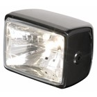 Highway Hawk Headlight Rect side mount black ABS E-mark - 223-311