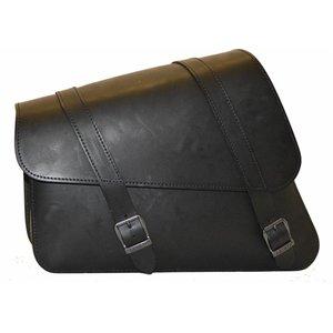 Highway Hawk Ledrie Framebag XL Black Premium Quality Leather for Harley-Davidson Sportster left-side. Reinforced backplate