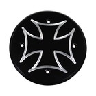 Highway Hawk Engine cover Cross left Black anodized Aluminum - M000025-VA23