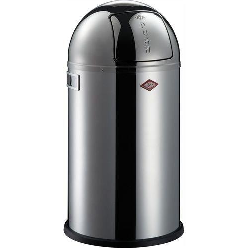 wesco pushboy zilver rvs hoogglans 50 liter. Black Bedroom Furniture Sets. Home Design Ideas
