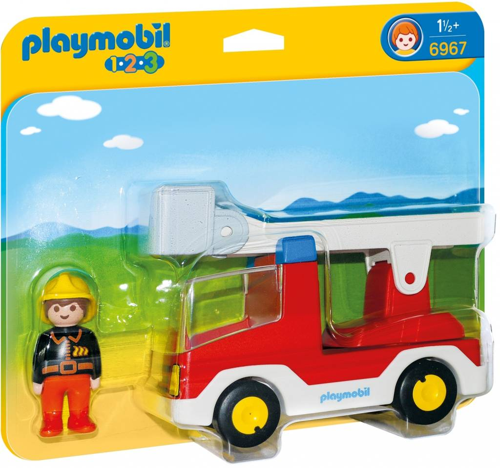 Brandweerwagen met ladder Playmobil