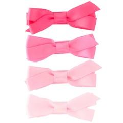 Haarspeldjes.com Setje roze haarspeldjes met satijnen strik