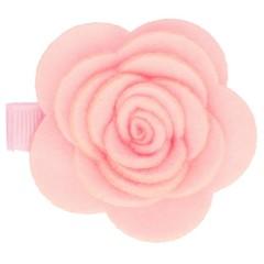 Haarspeldjes.com Roze haarspeld met vilten bloem