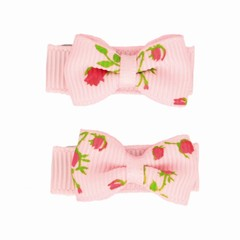 Haarspeldjes.com Baby haarspeldjes roze met roosjes