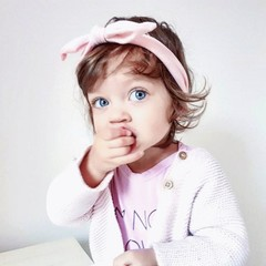 Haarspeldjes.com Baby haarbandje met knoop zachtroze