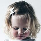 Your Little Miss Baby haarspeldje witte strik