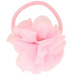 Your Little Miss Roze haarelastiek met bloem