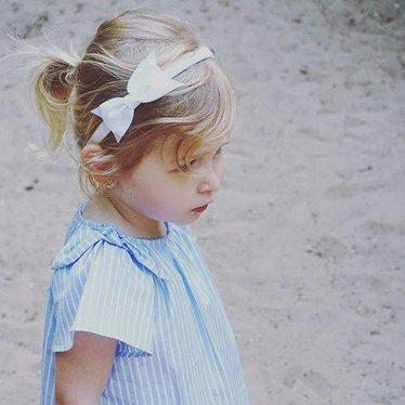 Your Little Miss Witte diadeem met strik