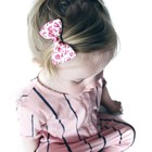 Your Little Miss Haarspeldje panterprint roze met strik