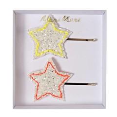 Meri Meri Haarspeldjes met glitter ster