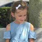 Your Little Miss Witte haarspeldjes met satijnen strik