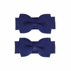 Your Little Miss Donkerblauwe blauwe baby haarspeldjes met strik