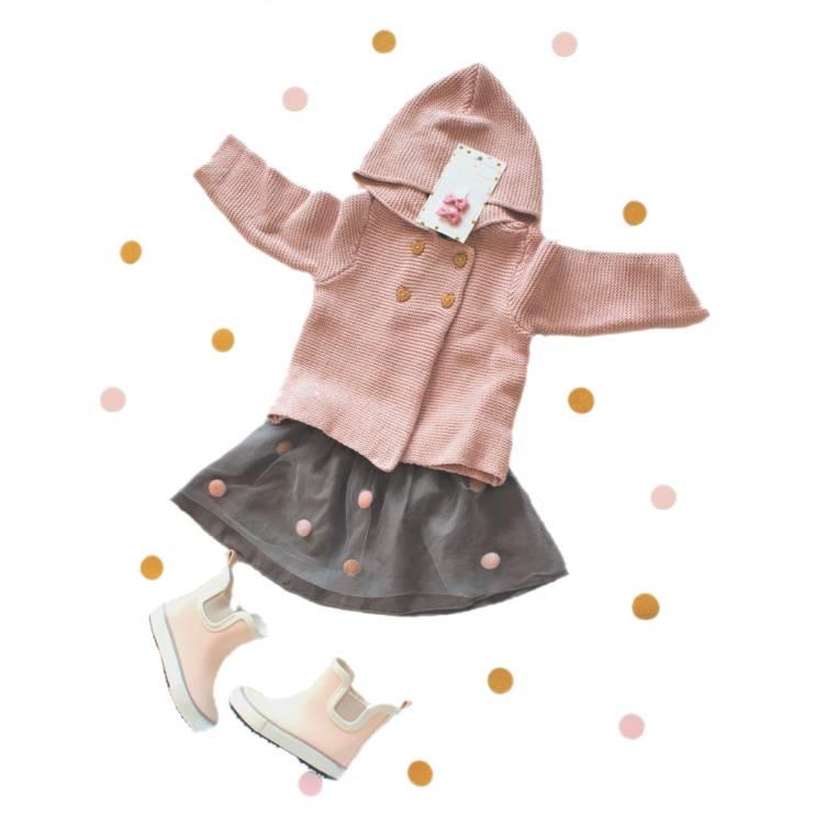 Hup, hip de regen in met de oudroze baby haarspeldjes!☔