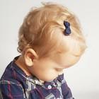 Your Little Miss Donkerblauwe baby haarspeldjes met strik