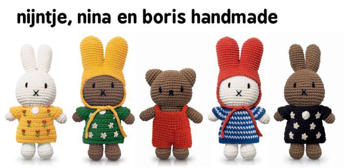 Product We Love: Nijntje, Nina en Boris handgemaakt