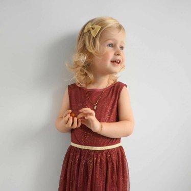 Your Little Miss Haarspeldje gold sparkle