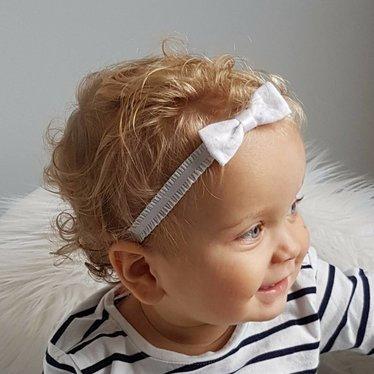 Your Little Miss Baby haarbandje met witte volants en strik