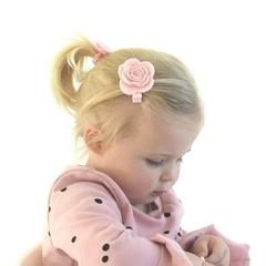 Your Little Miss Roze haarspeld met vilten bloem