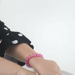 Papanga Papanga spiraal elastiek pink elegance