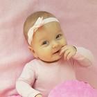 Your Little Miss Lichtroze baby haarbandje met strik