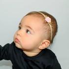 Your Little Miss Nylon baby haarbandje met roze vilten roosje