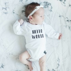 Your Little Miss Wit newborn baby haarbandje kant met strik satijn