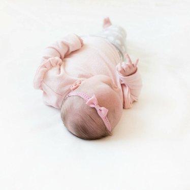 Your Little Miss Oudroze newborn baby haarbandje kant met strik