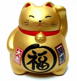 Maneki Neko piggy bank gold