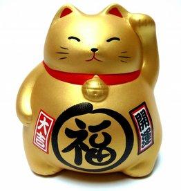 Maneki Neko spaarpot goud