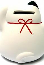 Maneki Neko (lucky cat) moneybox white