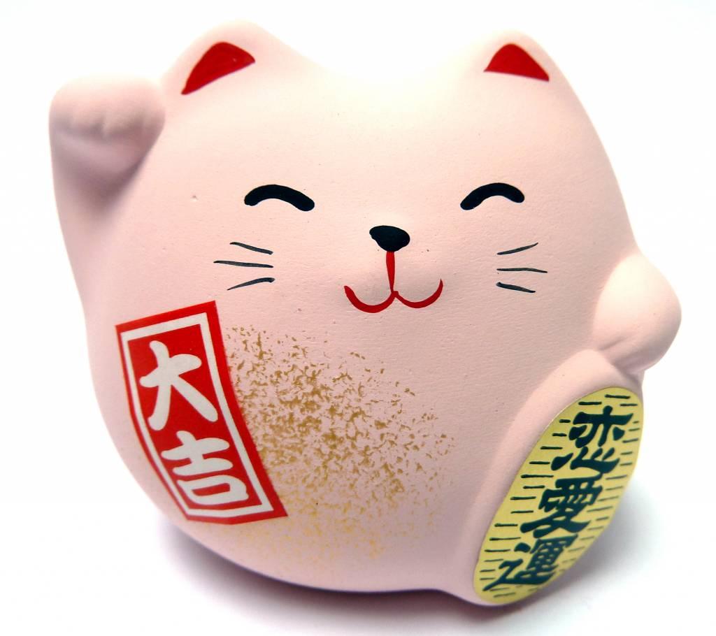 Maneki Neko pink, small