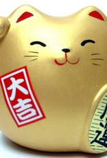 Maneki Neko goud, klein